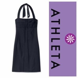 Athleta Black Sizzle Strech Halter Yoga Dress